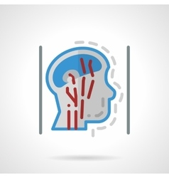 Head blood supply abstract flat icon vector