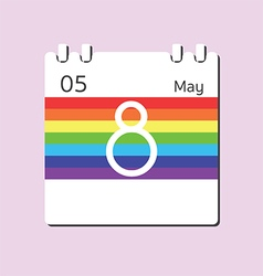 Rainbow calendar icon vector