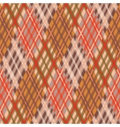 Seamless tartan pattern diagonal fall palette vector
