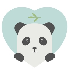 Animal set Portrait of a panda in love over heart vector image