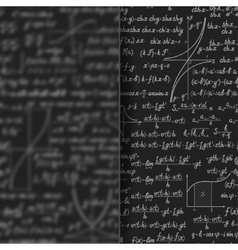 Abstract math background behind matt glass banner vector image vector image