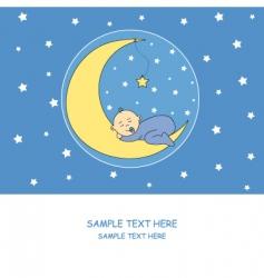 baby boy moon vector image vector image