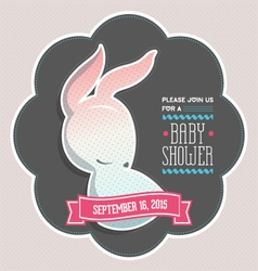 Baby shower invitation bunny vector image vector image
