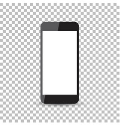 Black realistic smartphone icon with isolated vector