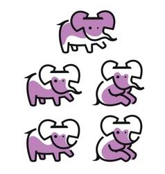 Cartoon elephant logo vector
