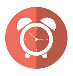 Clock time alarm hour shadow vector