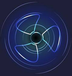 Cooling fan art ventilator symbol vector