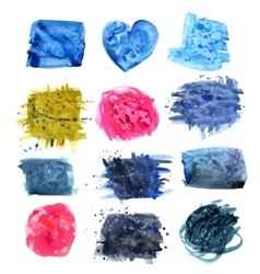 Designed abstract watercolor background vector image