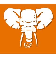 Elephant head vector