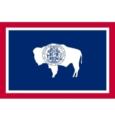 Flag of wyoming in correct size and colors vector