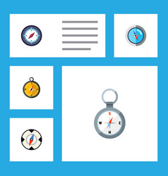 flat icon direction set of geography navigation vector image vector image