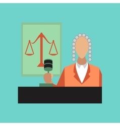 flat icon on stylish background jurisdiction judge vector image