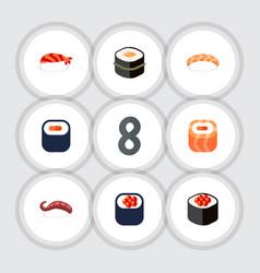 Flat icon sashimi set of sashimi oriental maki vector