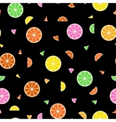 Fruit seamless pattern in memphis style vector image vector image