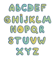 Funny kids colorful alphabet vector