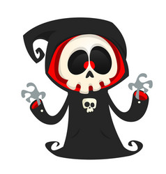 grim reaper cartoon character isolated vector image