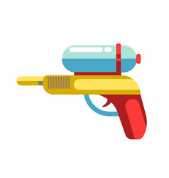 Kid toy children plaything water gun icon vector