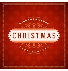 Merry Christmas typography decoration greeting vector image vector image