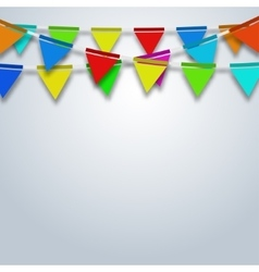 Modern party flags background vector