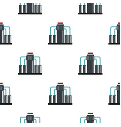 Oil refining pattern flat vector