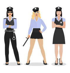 police girl image vector image vector image