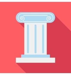 Roman pillar icon flat style vector