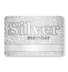 Silver member vip card composed from glitters vector