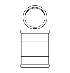 Trash can icon outline style vector image