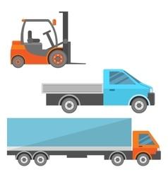 Warehouse cars set vector