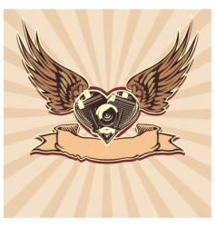 winged motorbike symbol vector image