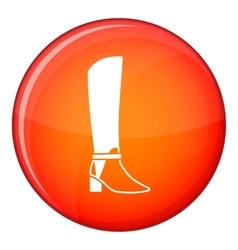 Women high boots icon flat style vector