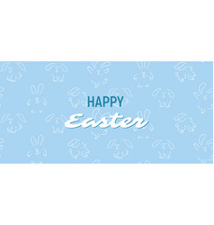 Easter seamless pattern bunnies vector