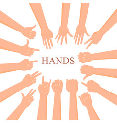 Collection of hand gestures vector