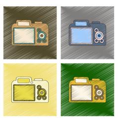 assembly flat shading style icon camera vector image