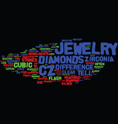 Lessons on cz jewelry text background word cloud vector