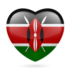 Heart icon of kenya vector