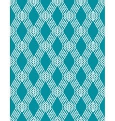 Abstract white line seamless pattern on blue vector image