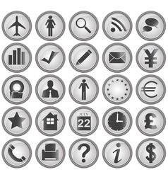 25 Business icons vector image