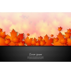 Bright corporate autumn background vector