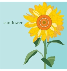 Ornamental sunflower on blue sky vector