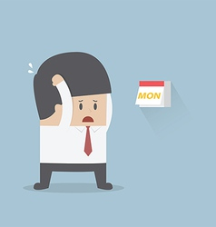 Businessman boring monday vector