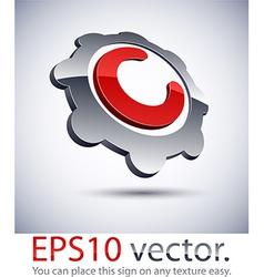 3d modern logo icon vector