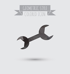 Symbol settings wrench vector