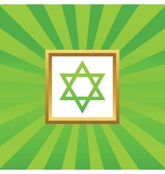 Star of david picture icon vector