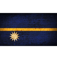 Flags nauru with dirty paper texture vector