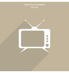 Tv web icon vector