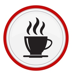 Icon with a cup of coffee vector