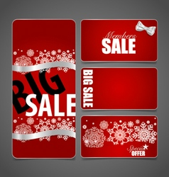 Gift coupons with gift bows and ribbons vector