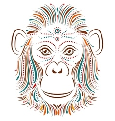 Monkey on white background vector