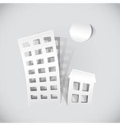Paper building popout vector